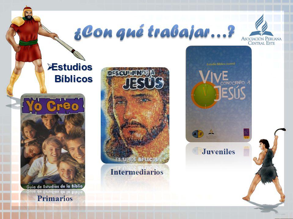 ¿Con qué trabajar… Estudios Bíblicos Juveniles Intermediarios