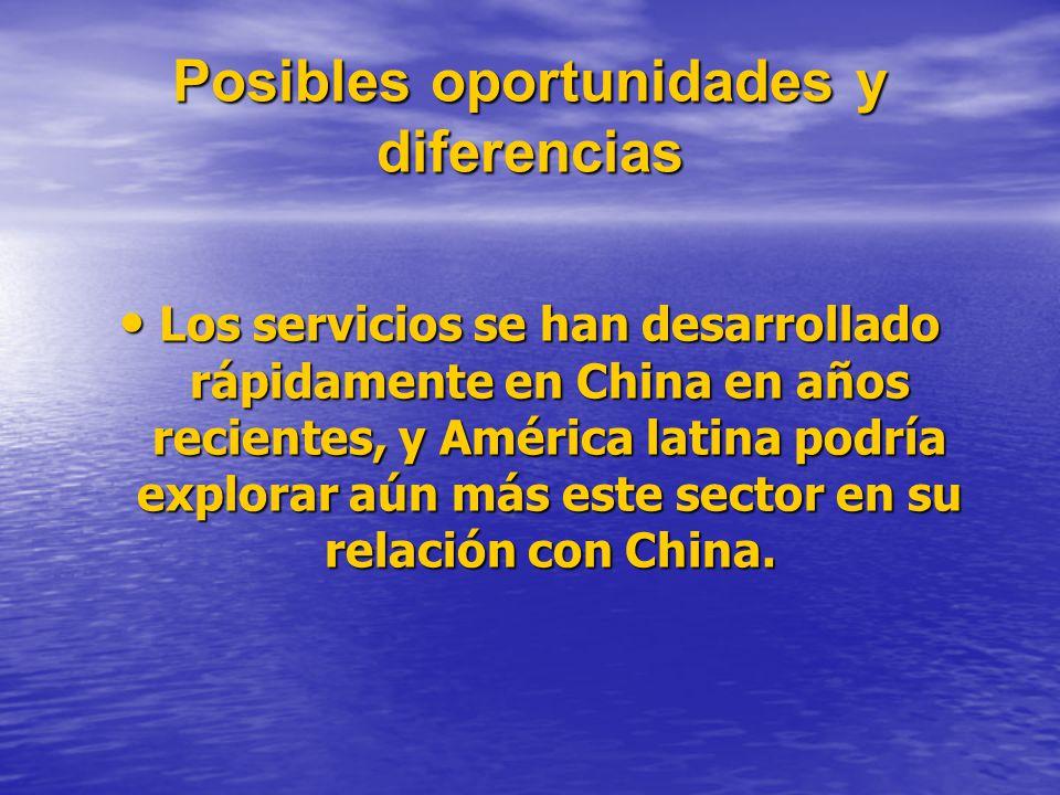 Posibles oportunidades y diferencias