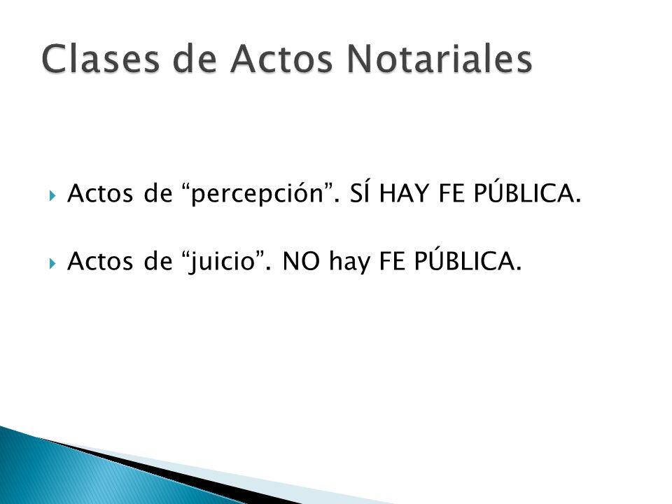 Clases de Actos Notariales