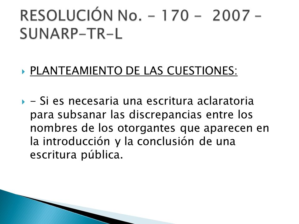 RESOLUCIÓN No. - 170 - 2007 – SUNARP-TR-L