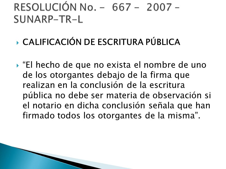 RESOLUCIÓN No. - 667 - 2007 – SUNARP-TR-L