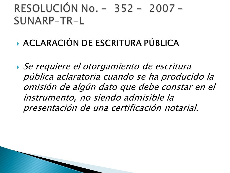 RESOLUCIÓN No. - 352 - 2007 – SUNARP-TR-L
