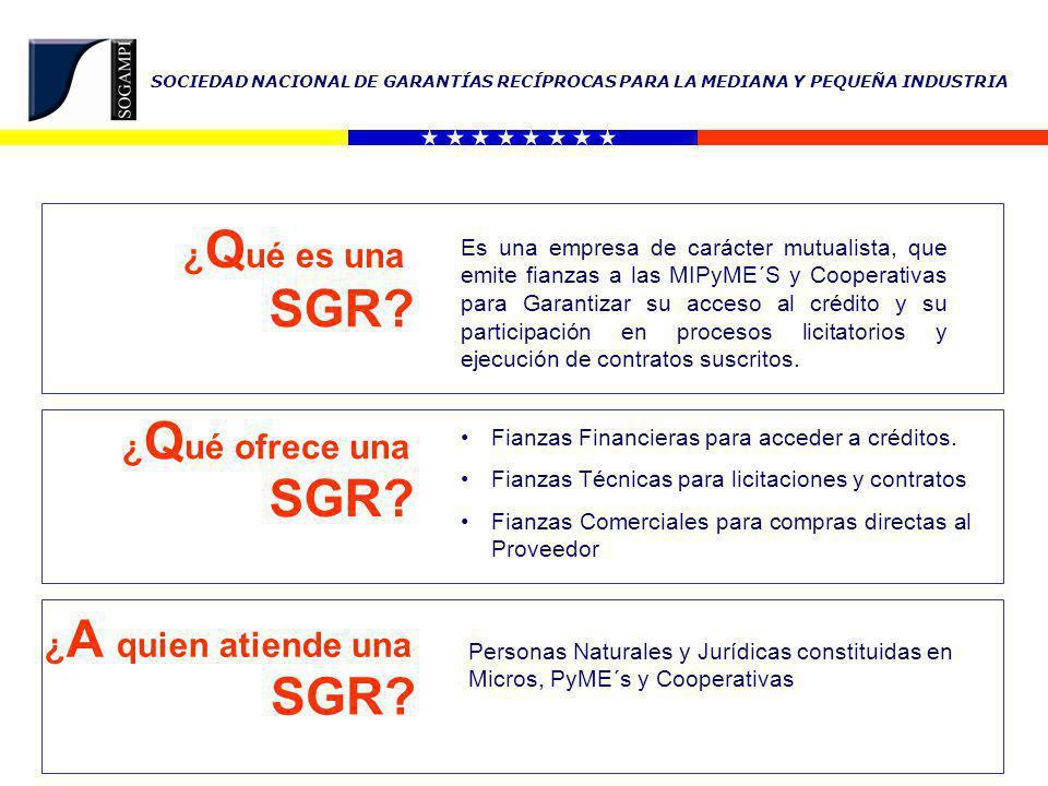 SGR SGR SGR ¿Qué es una ¿Qué ofrece una ¿A quien atiende una