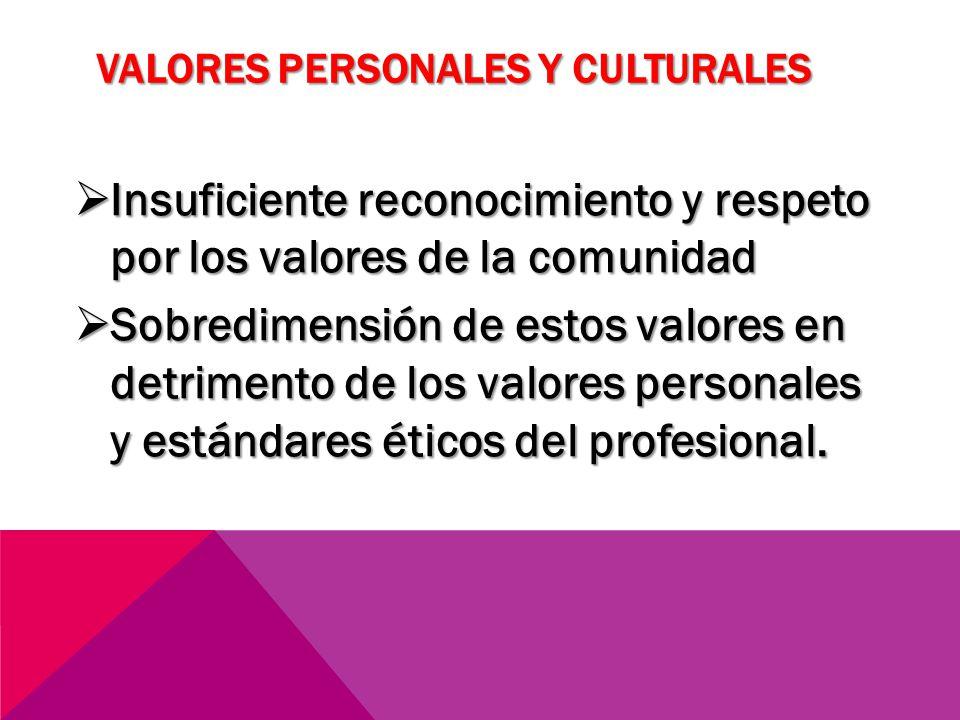 Valores personales y culturales