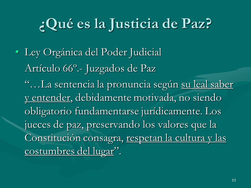 ¿Qué es la Justicia de Paz
