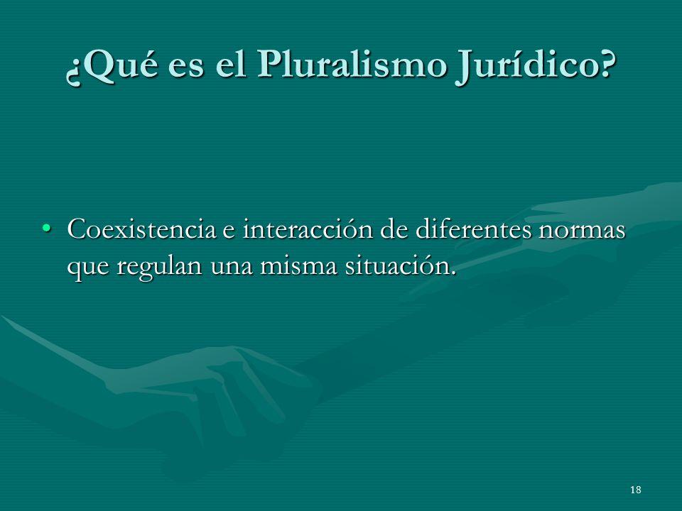 ¿Qué es el Pluralismo Jurídico