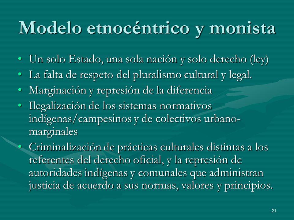 Modelo etnocéntrico y monista