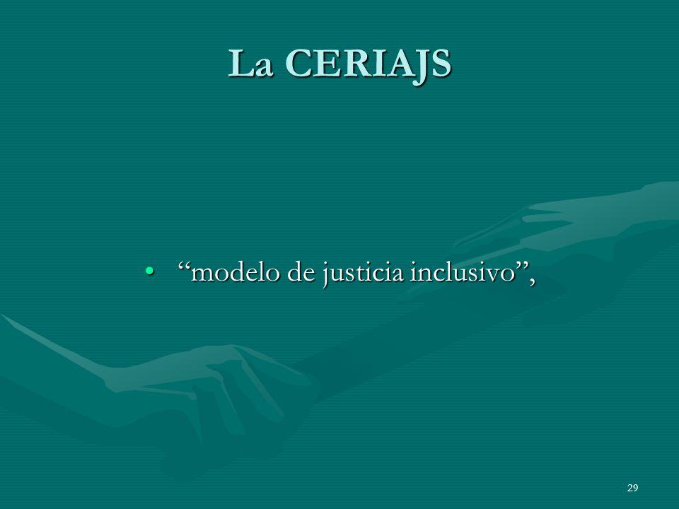 modelo de justicia inclusivo ,