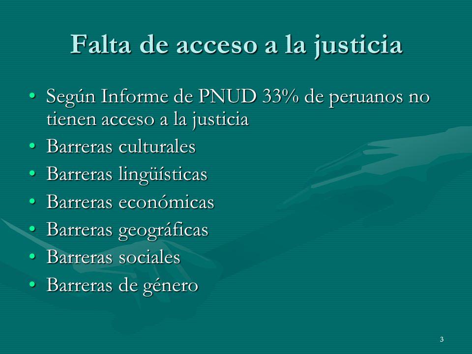 Falta de acceso a la justicia