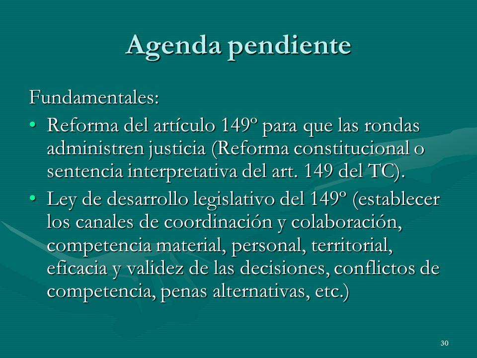 Agenda pendiente Fundamentales: