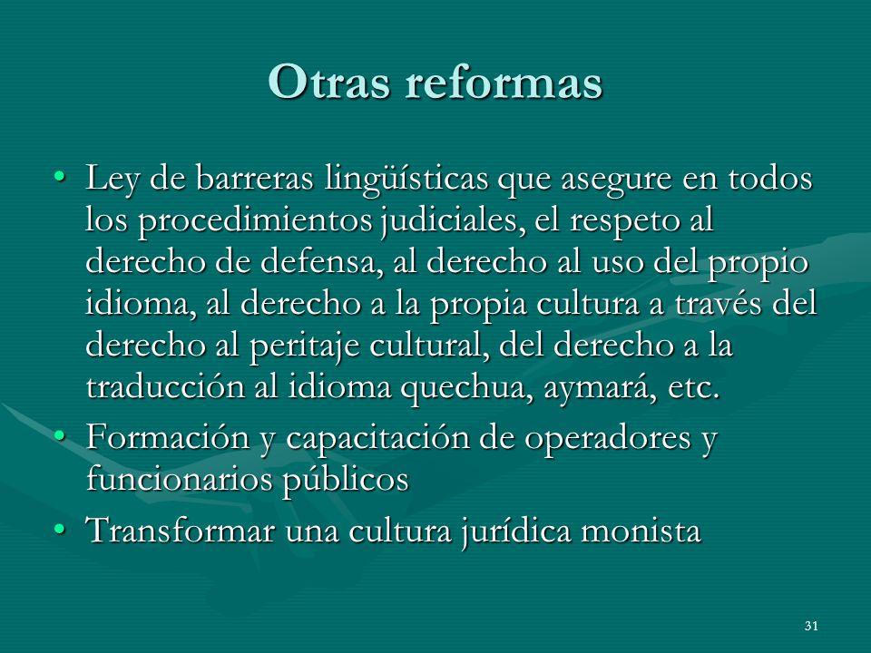 Otras reformas