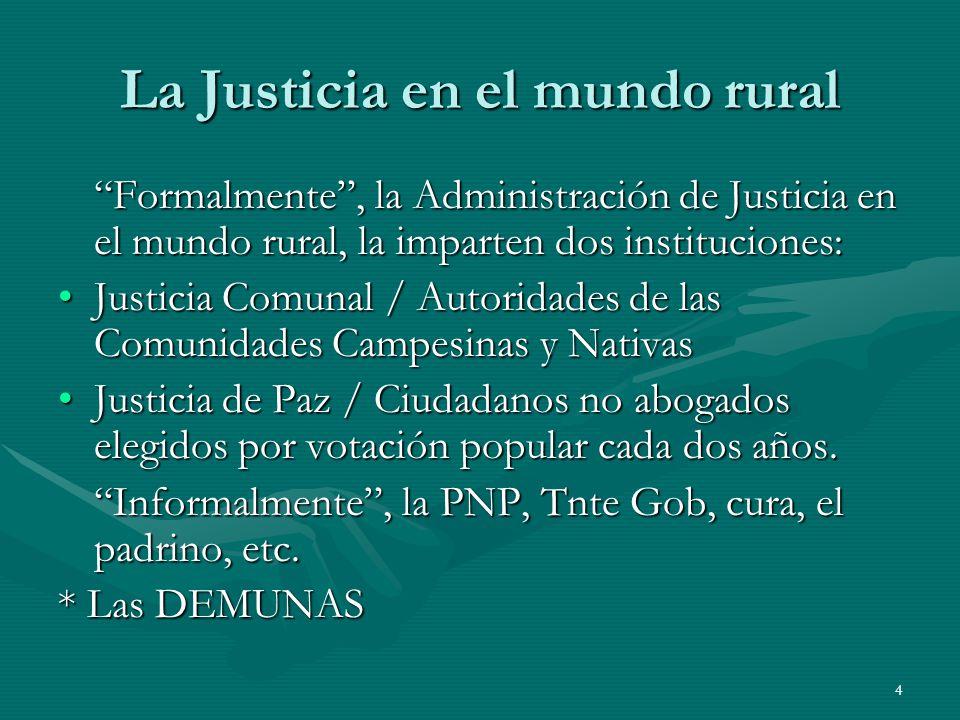 La Justicia en el mundo rural