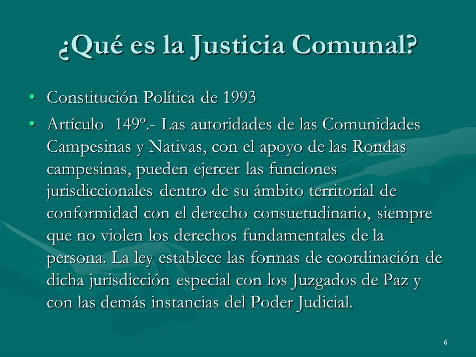 ¿Qué es la Justicia Comunal
