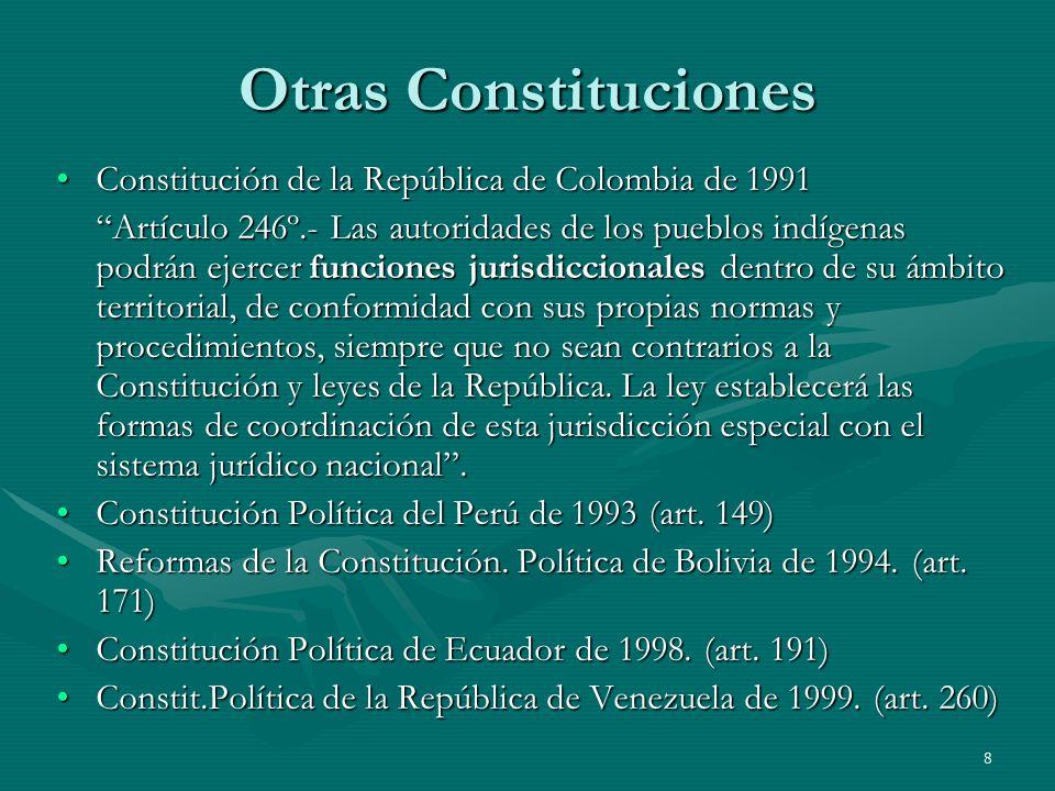 Otras Constituciones Constitución de la República de Colombia de 1991