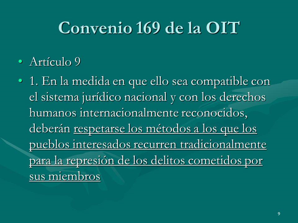 Convenio 169 de la OIT Artículo 9