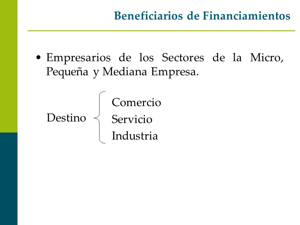 Beneficiarios de Financiamientos