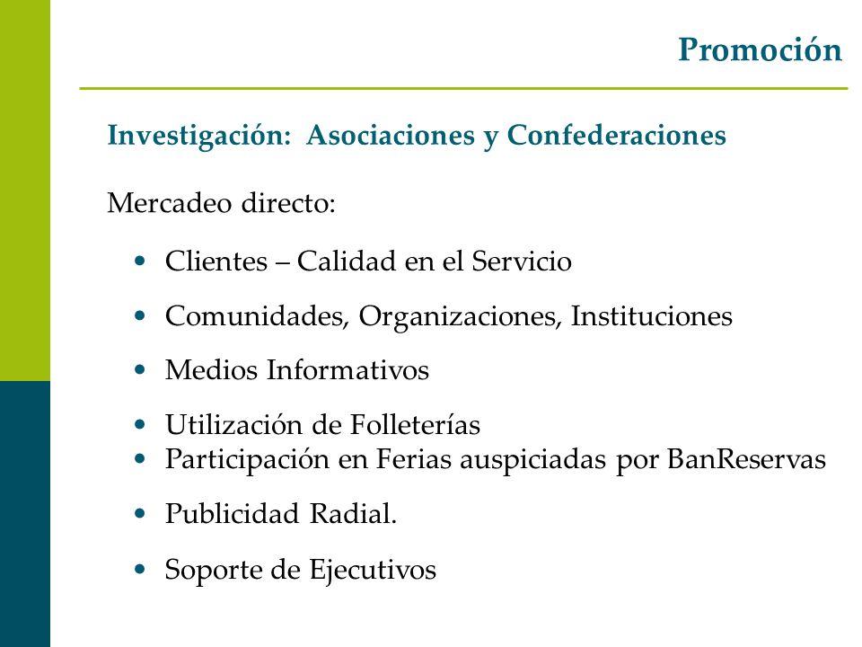 Promoción Investigación: Asociaciones y Confederaciones