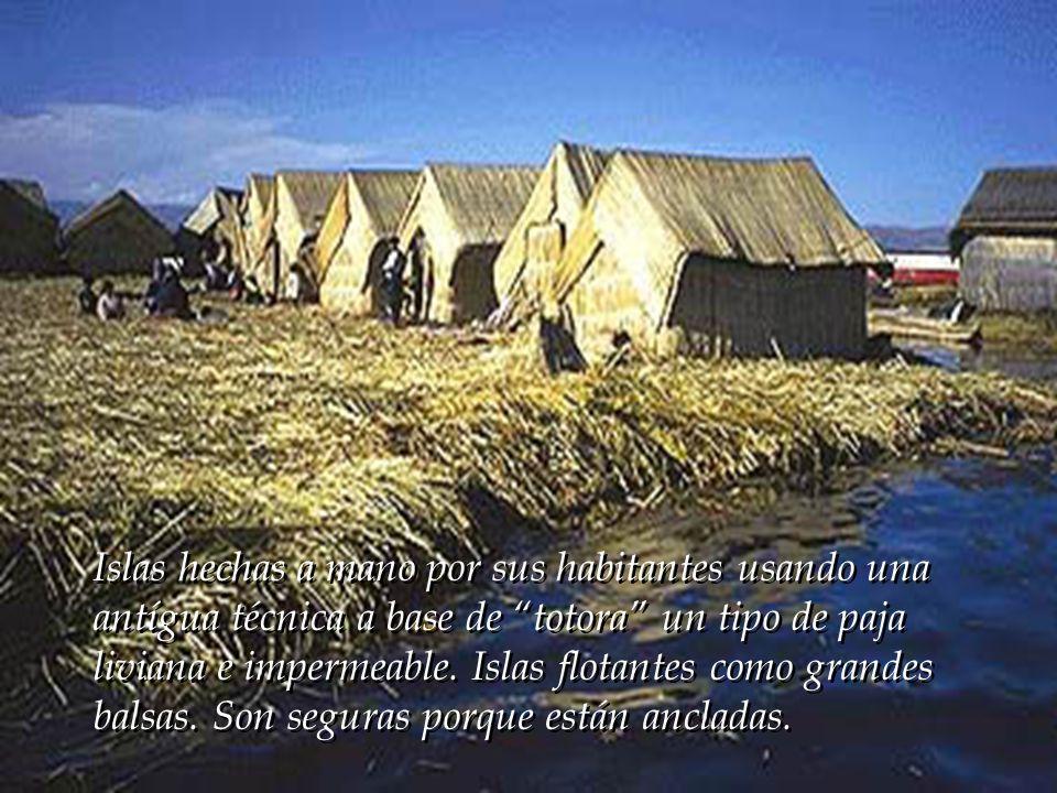 Islas hechas a mano por sus habitantes usando una