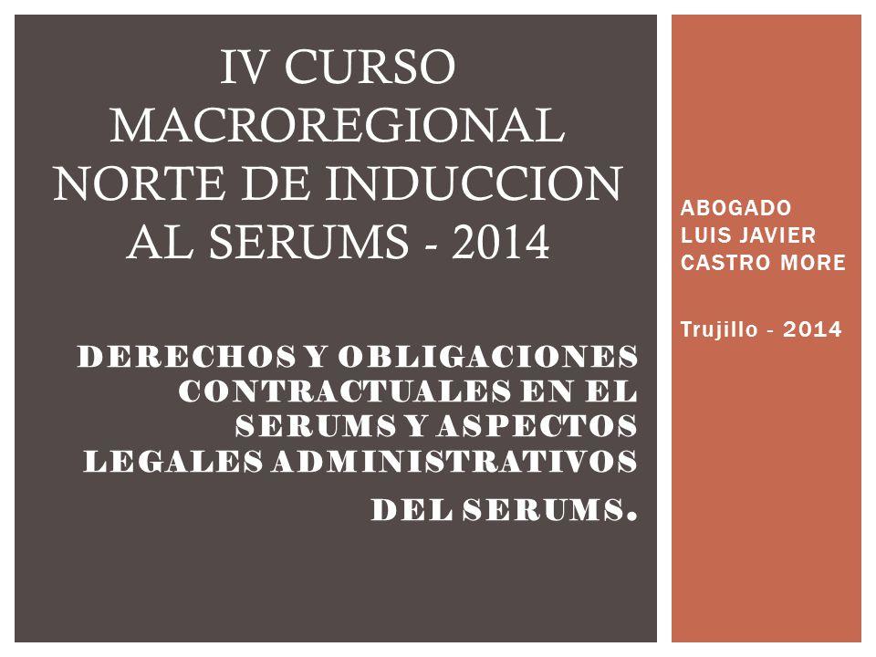 ABOGADO LUIS JAVIER CASTRO MORE Trujillo - 2014