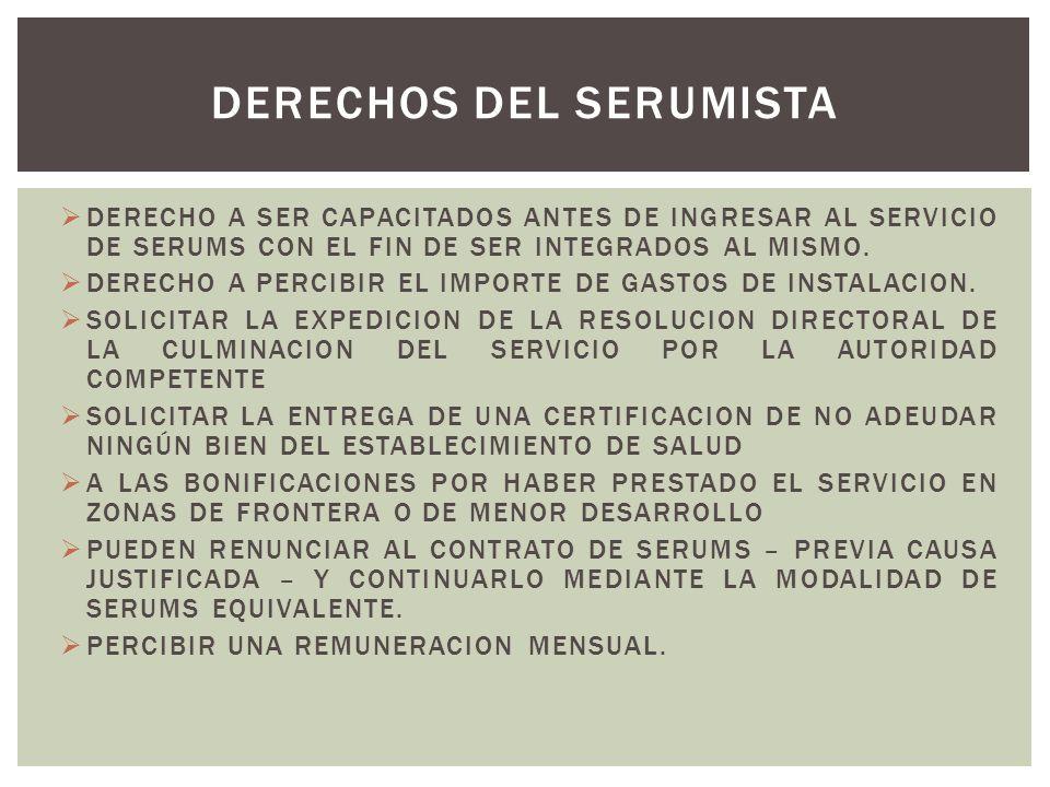 DERECHOS DEL SERUMISTA
