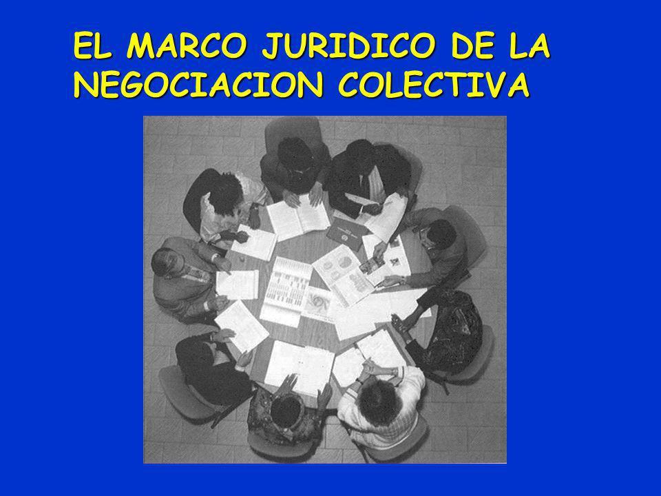 EL MARCO JURIDICO DE LA NEGOCIACION COLECTIVA