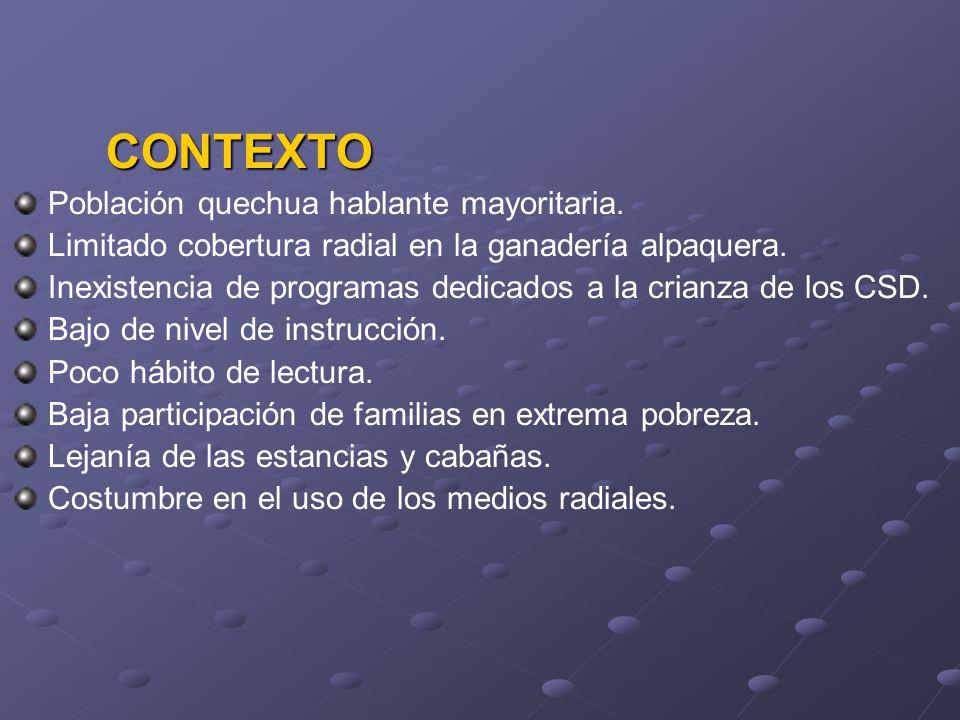 Población quechua hablante mayoritaria.