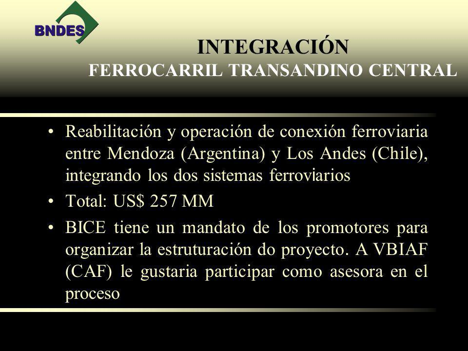INTEGRACIÓN FERROCARRIL TRANSANDINO CENTRAL