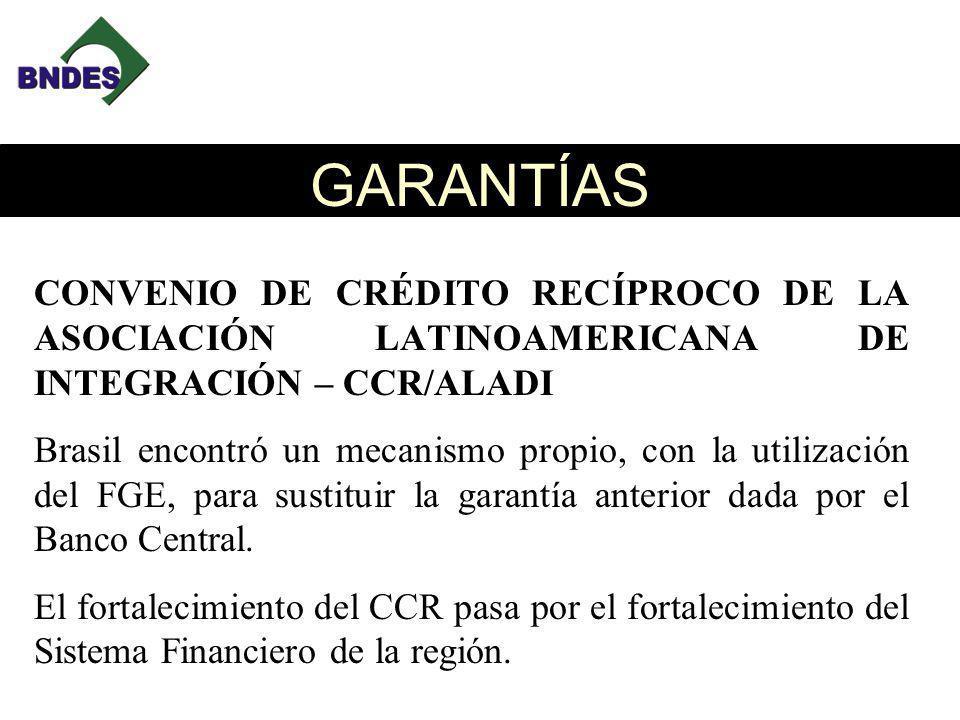 GARANTÍAS CONVENIO DE CRÉDITO RECÍPROCO DE LA ASOCIACIÓN LATINOAMERICANA DE INTEGRACIÓN – CCR/ALADI.
