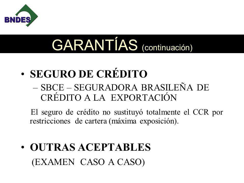 GARANTÍAS (continuación)