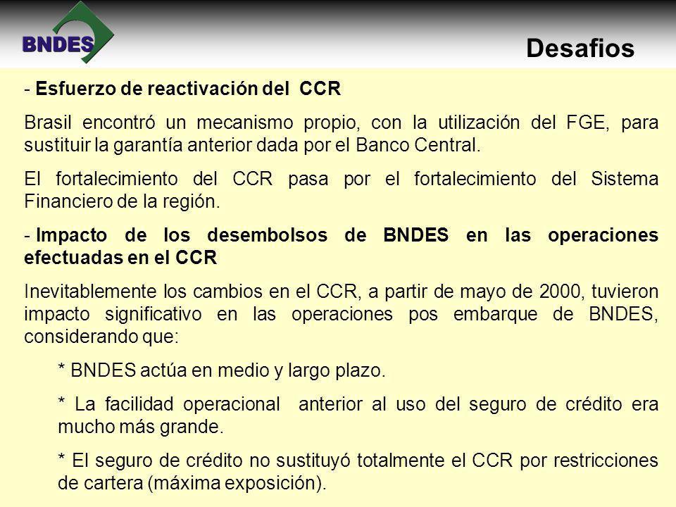 Desafios Esfuerzo de reactivación del CCR