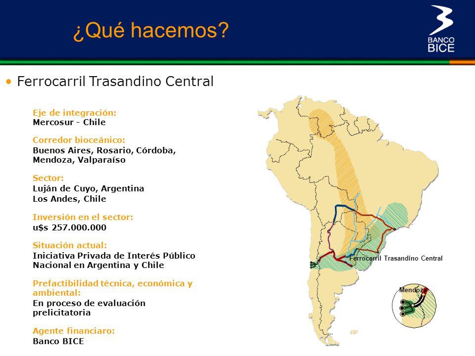 ¿Qué hacemos Ferrocarril Trasandino Central Eje de integración: