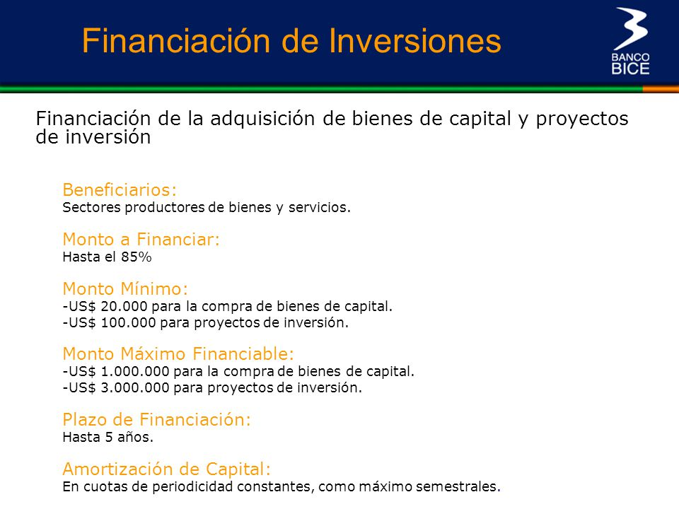 Financiación de Inversiones