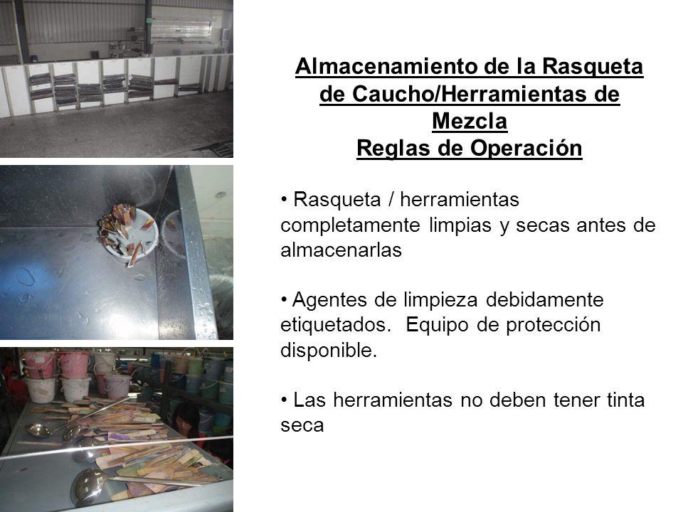 Almacenamiento de la Rasqueta de Caucho/Herramientas de Mezcla