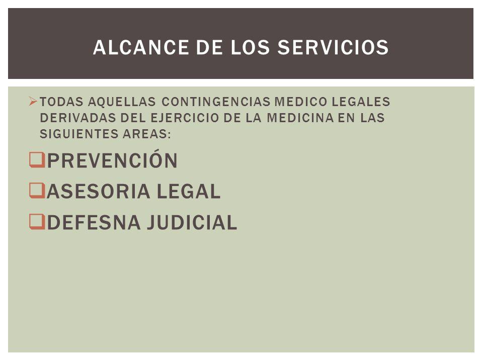 ALCANCE DE LOS SERVICIOS
