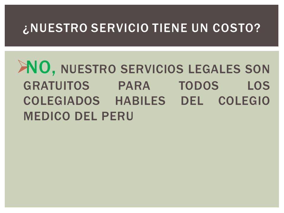 ¿NUESTRO SERVICIO TIENE UN COSTO