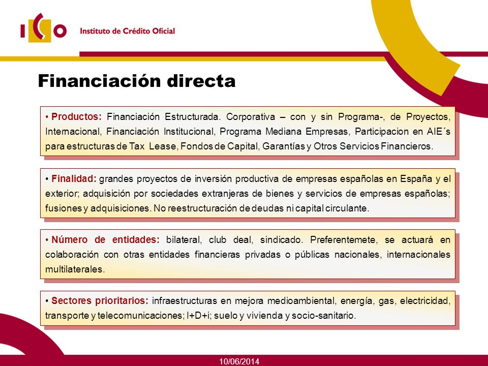 Financiación directa