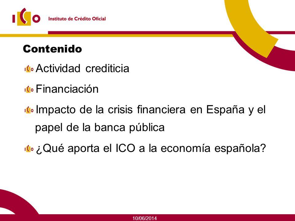 ¿Qué aporta el ICO a la economía española