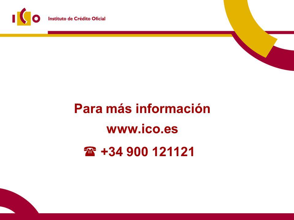 Para más información www.ico.es