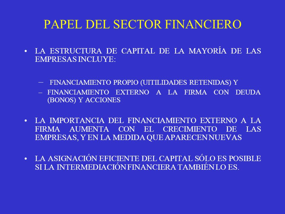 PAPEL DEL SECTOR FINANCIERO