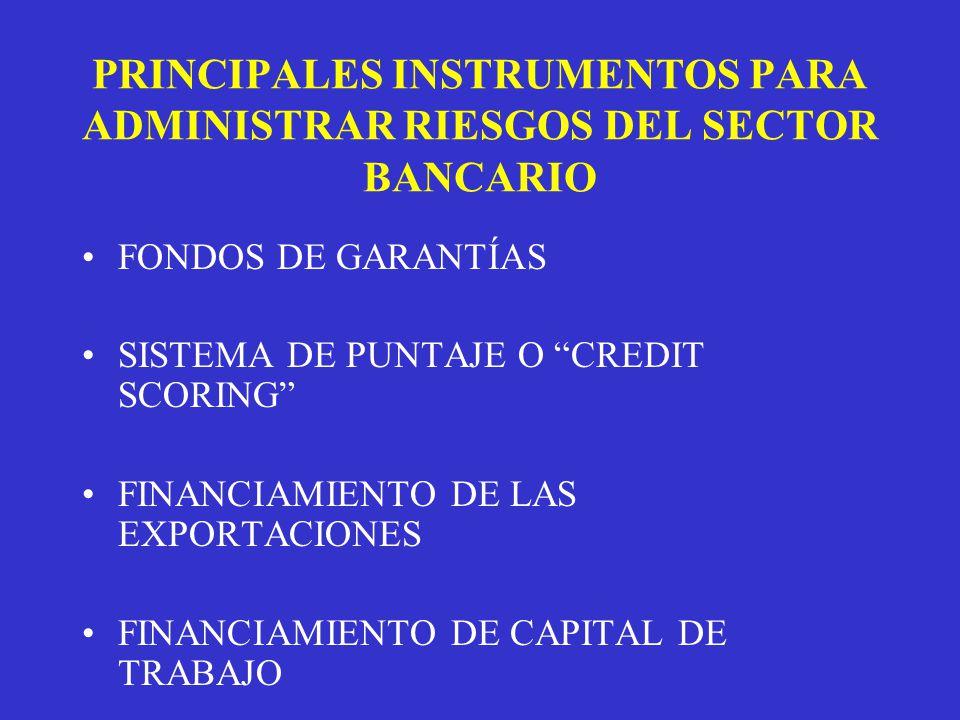 PRINCIPALES INSTRUMENTOS PARA ADMINISTRAR RIESGOS DEL SECTOR BANCARIO