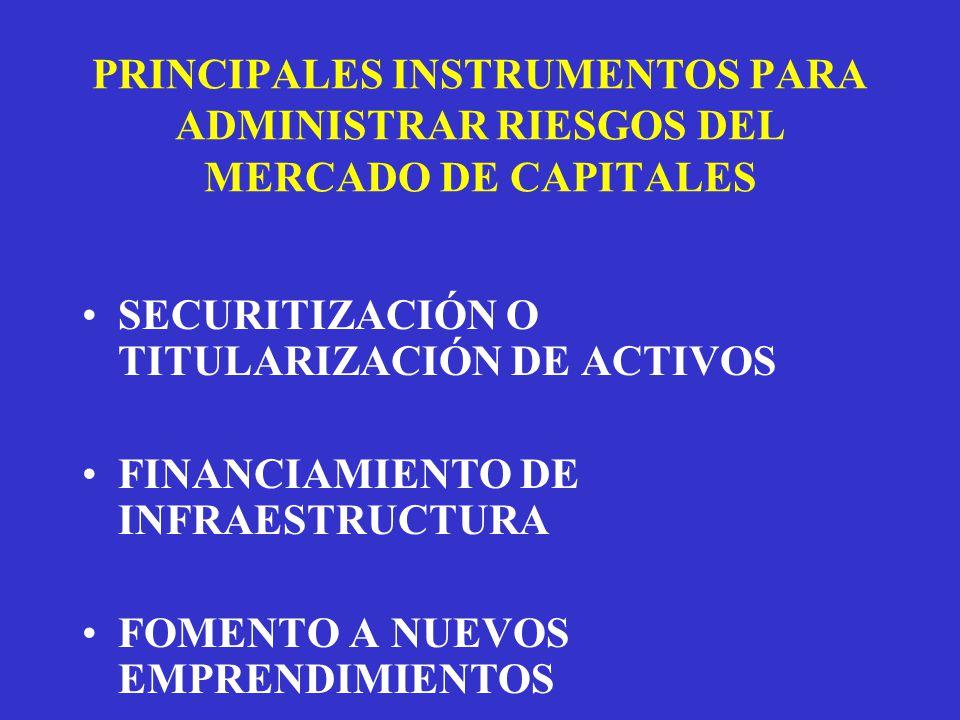 PRINCIPALES INSTRUMENTOS PARA ADMINISTRAR RIESGOS DEL MERCADO DE CAPITALES