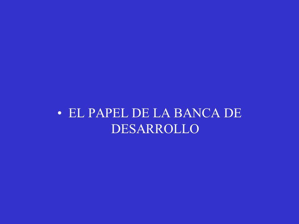 EL PAPEL DE LA BANCA DE DESARROLLO