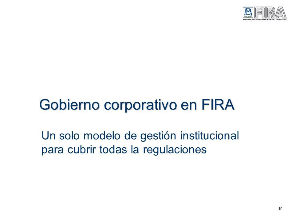 Gobierno corporativo en FIRA