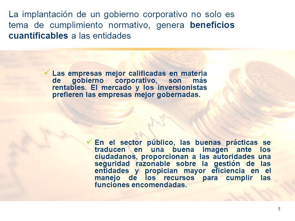 La implantación de un gobierno corporativo no solo es tema de cumplimiento normativo, genera beneficios cuantificables a las entidades