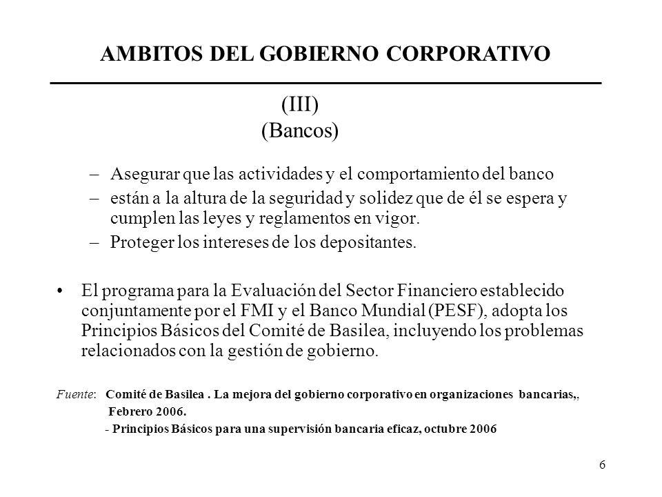 AMBITOS DEL GOBIERNO CORPORATIVO