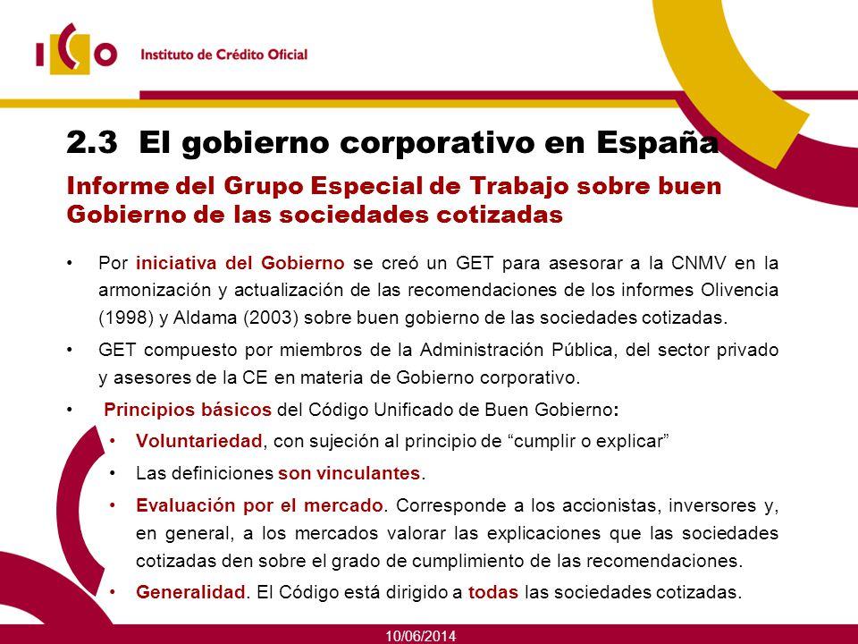 2.3 El gobierno corporativo en España
