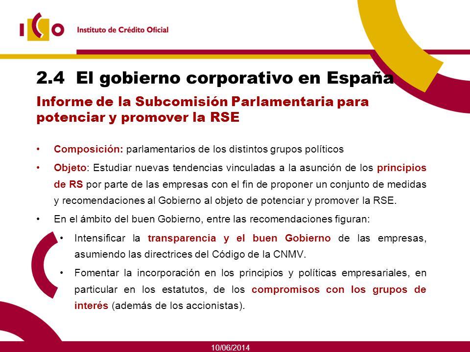 2.4 El gobierno corporativo en España