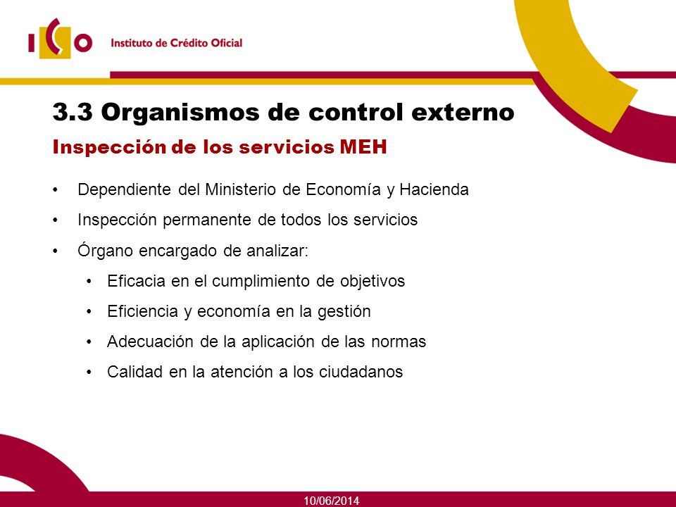 3.3 Organismos de control externo