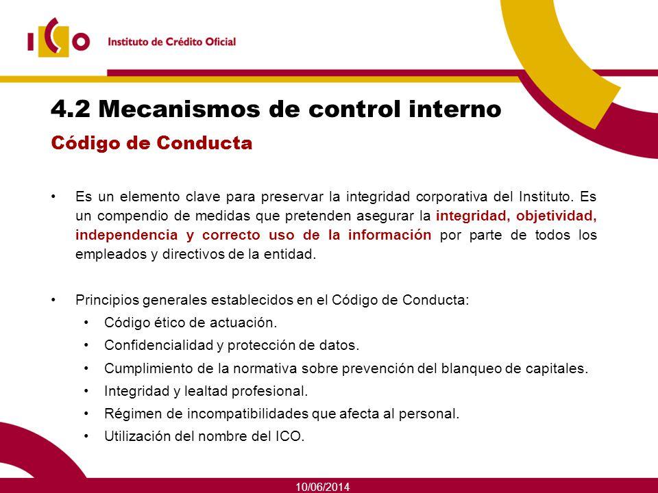 4.2 Mecanismos de control interno