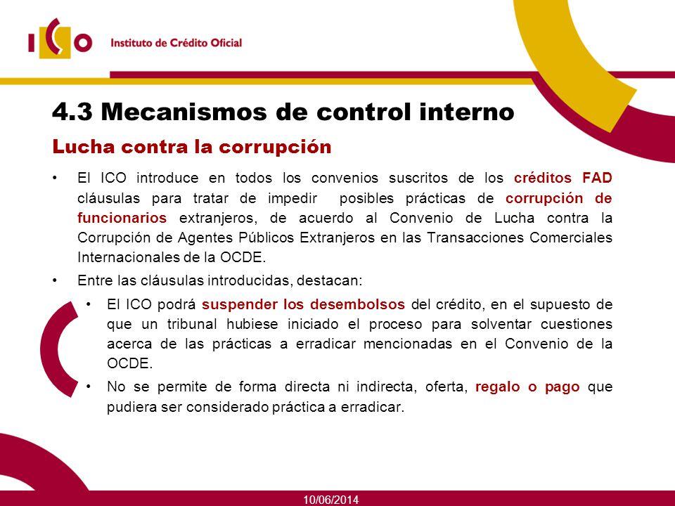4.3 Mecanismos de control interno